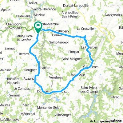 Evaux les Bains - 02 - 83 kms
