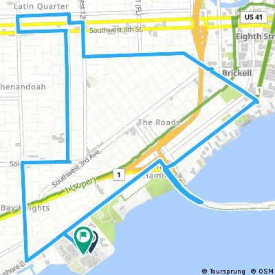 Miami Police Staff Bike Ride