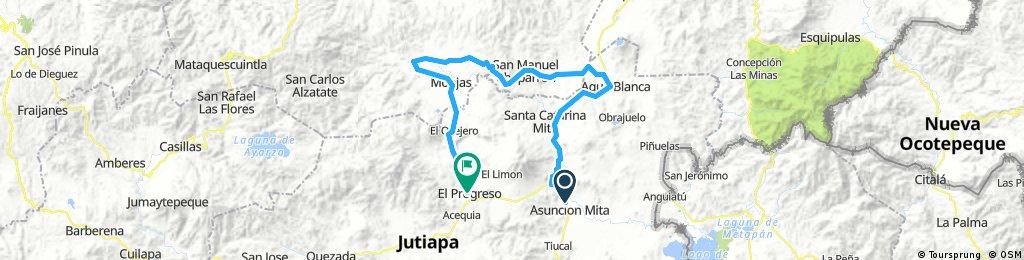 Asuncion Mita- Agua Blanca- Chaparron- Monjas- El Progreso