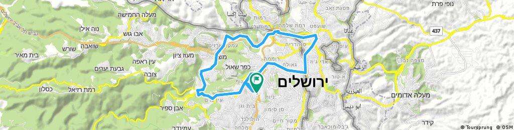 ride through Jerusalem 21.10.17