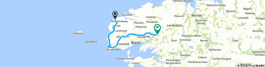 Portsall to Landerneau day 2