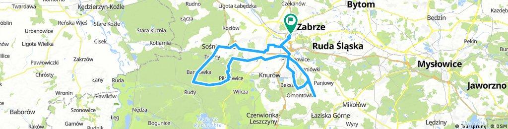 Long bike tour from 14:02 21 październik