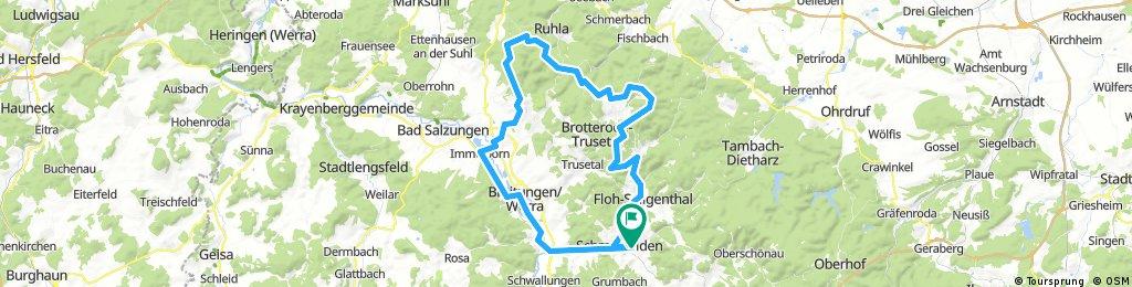 2017-09-02: Schmalkalden - Floh-Seligental - Brotterode - Inselsberg - Immelborn - Breitungen