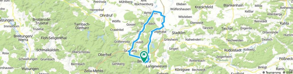 2017-10-03: Ilmenau - Heyda - Marlishausen - Arnstadt - Geraberg - Ilmenau