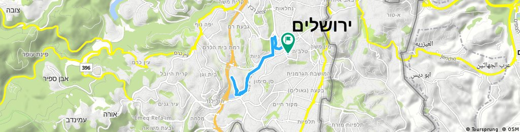 Brief bike tour through Jerusalem