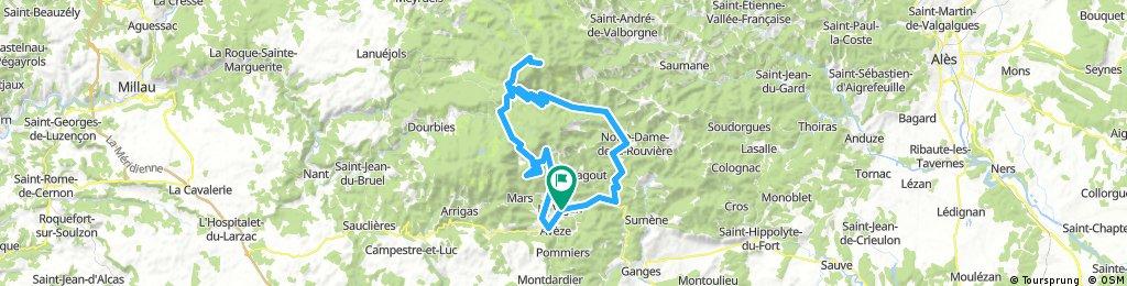 Le Vigan - Mont Aigoual - Valleraugue - Pont d'Hérault - Le Vigan