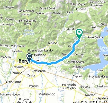 Lengthy bike tour through Monasterolo del Castello