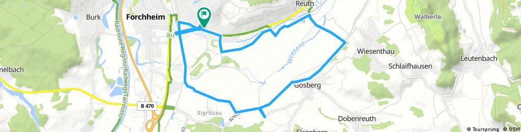 Radrunde durch Forchheim