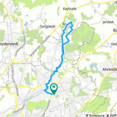 Alsterwanderweg und Duvenstedter Brook auf dem Crosser