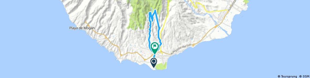 bike tour through San Bartolomé de Tirajana