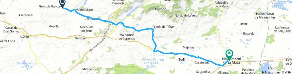 LA RAYA: 6ª Etapa b): Montehermoso - Navalmoral