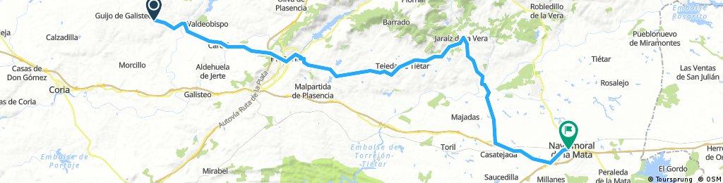 LA RAYA: 6ª Etapa c): Montehermoso - Navalmoral