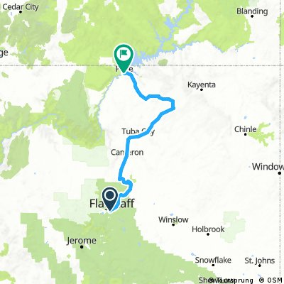 Flagstaff to Page Lake Powel