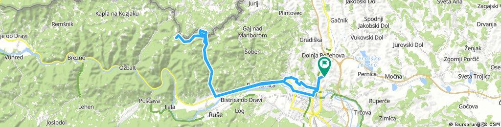 Košaki - Bresternica - Sv. Duh na Ostrem vrhu - Spodnji Slemen - MB