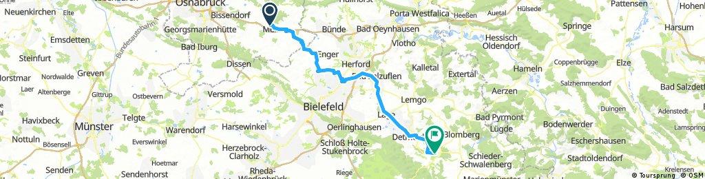 von Melle nach Horn-Bad Meinberg
