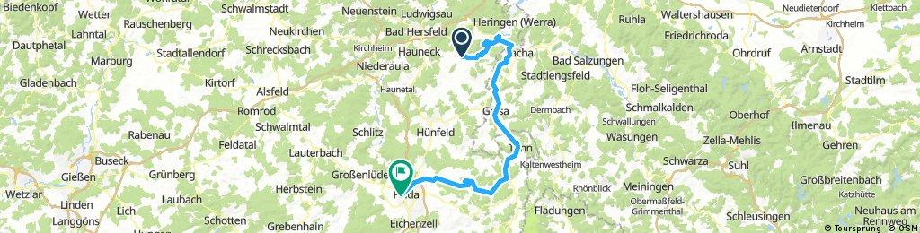 2017-04-30: Schenklengsfeld - Geisa - Tann - Fulda
