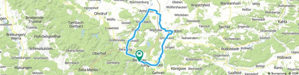 2017-05-13: Ilmenau - Stadtilm - Arnstadt - Ilmenau
