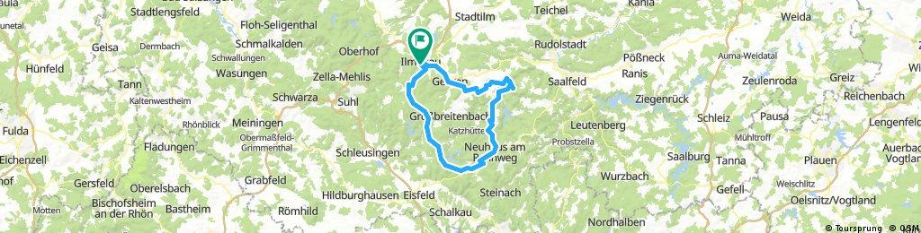 2017-06-11: Ilmenau - Bad Blankenburg - Neuhaus am Rennweg - Masserberg - Ilmenau