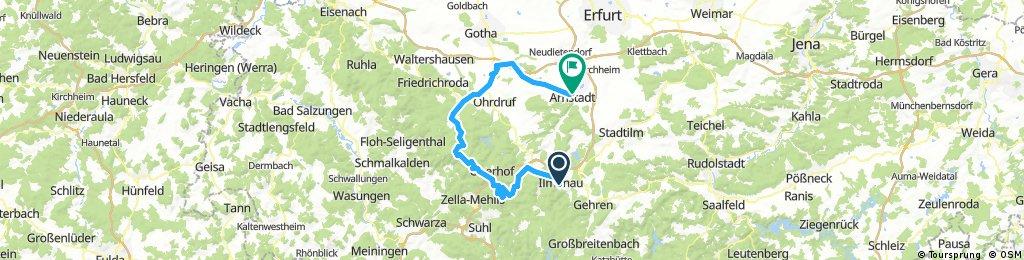2017-06-25: Ilmenau - Oberhof - Tambach-Dietharz - Ohrdruf - Arnstadt