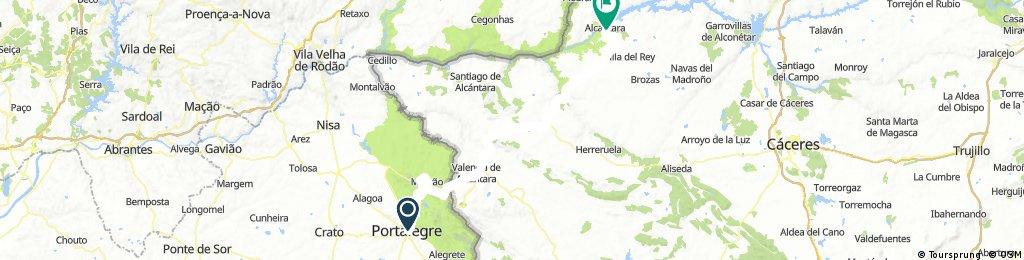LA RAYA: 3ª Etapa b) Portalegre - Alcántara