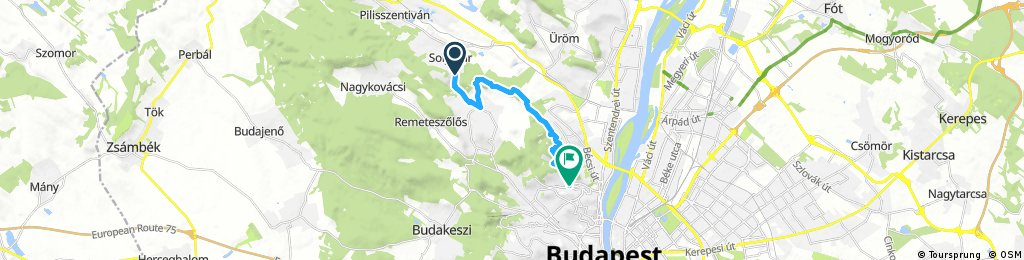 ride through Budapest