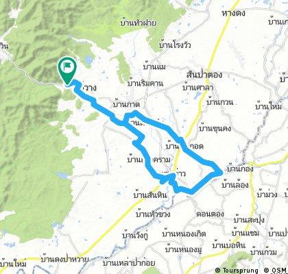 Mae Wang - San Pa Tong - Doi Lo on country roads cycling loop