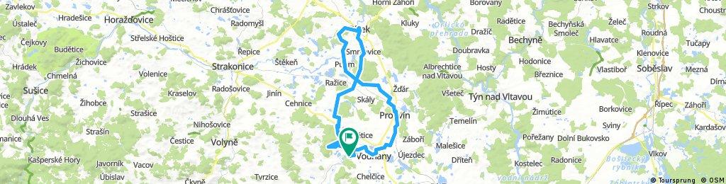 MTB Pražák -Vodňany -Protivín -Putim -Písek -Heřmaň -Skočice
