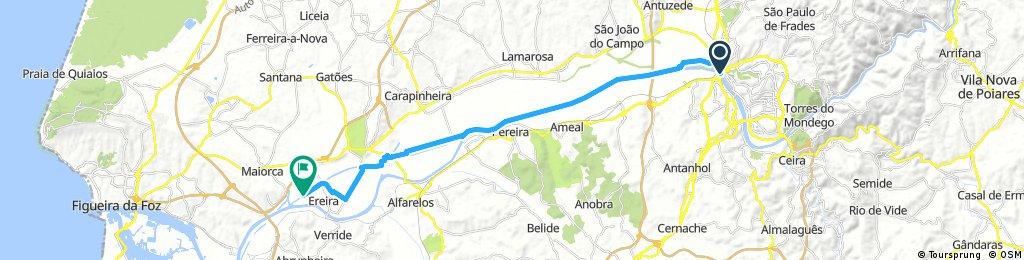 Coimbra - Figueira da Foz part 1(till Ereira)