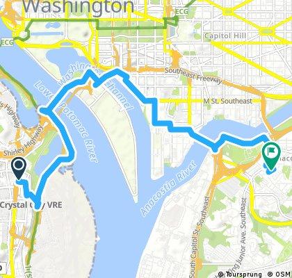 ride from Arlington to Washington
