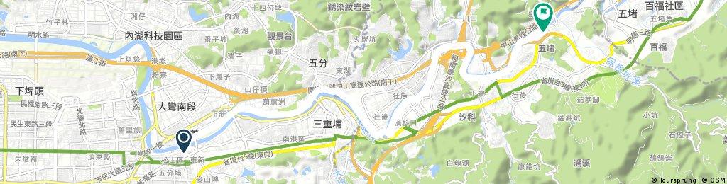 基隆河濱:松山火車站到五堵火車站