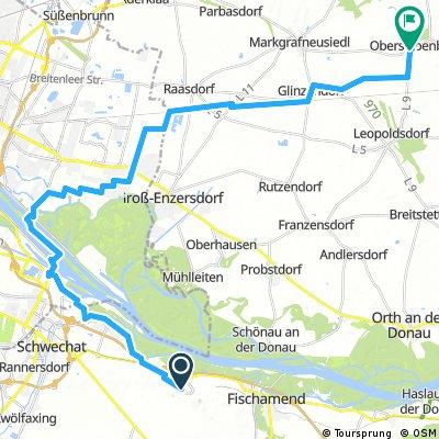 Lange Radrunde durch Gemeinde Obersiebenbrunn