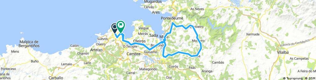 Coruña-Betanzos-Campolongo-Irixoa-Betanzos-Coruña