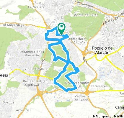 25k ride through Majadahonda