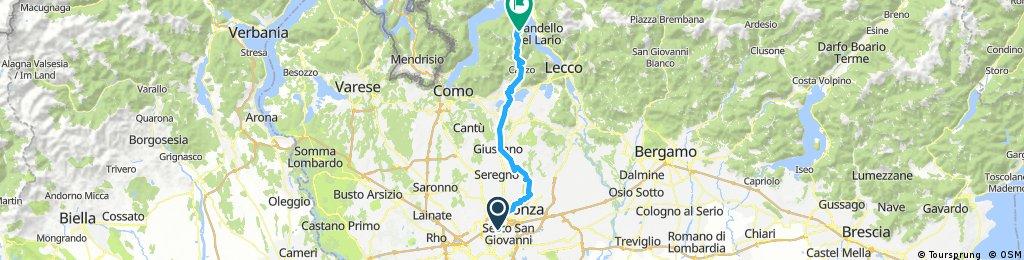 Long bike tour from Vigorelli (Milan) to Ghisallo