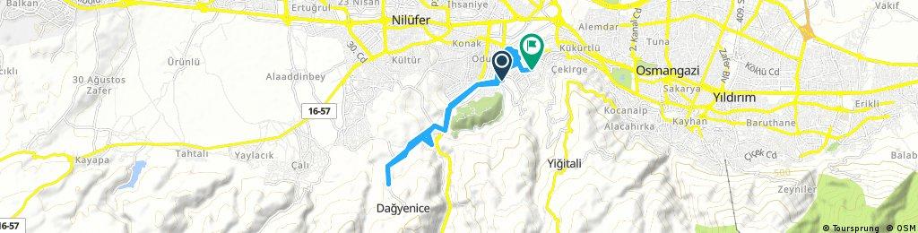 Long bike tour through Bursa