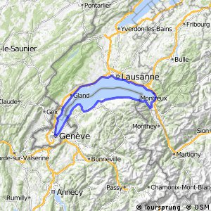 Cycling routes and bike maps in and around Lausanne Bikemap Your