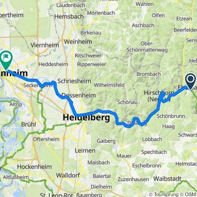 🚴♀️E*Bike🇩🇪 Eberbach – Heidelberg – Mannheim