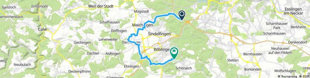 Radrunde um Sindelfingen - Böblingen