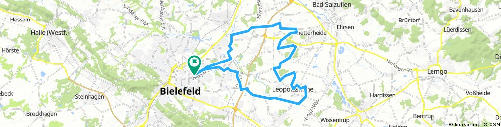 Uli's 45 km Cross Bielefeld