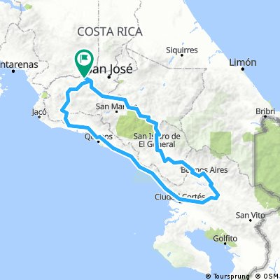 Costa Rica Cycling, Central valley and Pacific