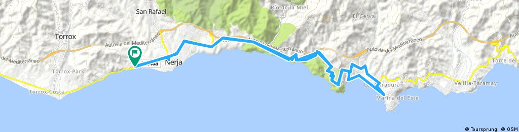 Nerja to Heradura return