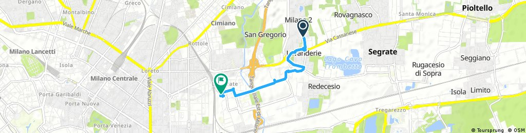 Short ride through Milan