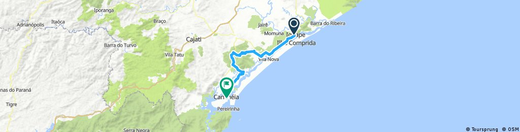Iguape a Cananéia