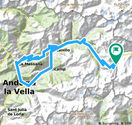 ZZZPort d'Envalira (Pas de la Casa)-Soldeu-El Tarter-Canillo-Encamp-Andorra-La Massana-Ordino- Col d'Ordino-Arcalis-Canillo-Soldeu-El Tarter-Port d'Envalira (pas de la Casa)
