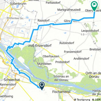Lange Ausfahrt durch Gemeinde Obersiebenbrunn