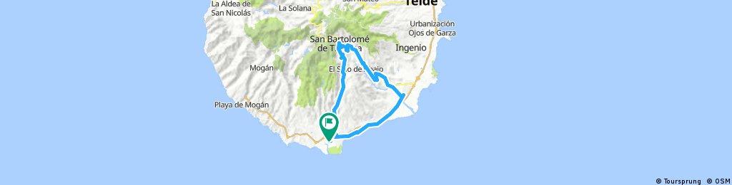 Long ride through San Bartolomé de Tirajana