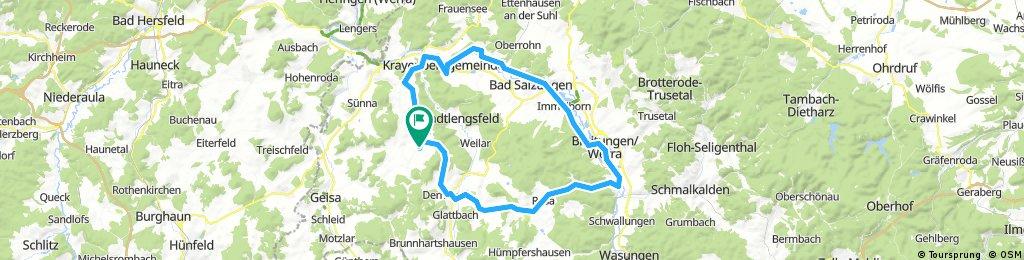 70 km über Breitungen