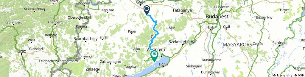 Pannonhalma-Veszprém-Balatonfüred