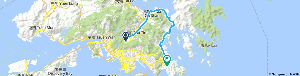 Lengthy bike tour through O Pui Village
