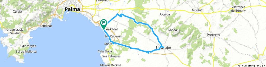 Long bike tour through Palma